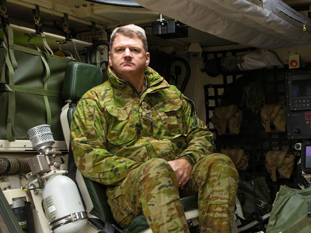 Major General Fergus McLachlan is pushing for the army to future-proof itself. Picture: Mark Stewart
