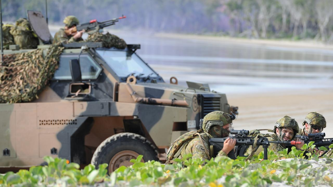 Australian Army soldiers of the Amphibious Beach Team at Exercise Hamel. Picture: ADF
