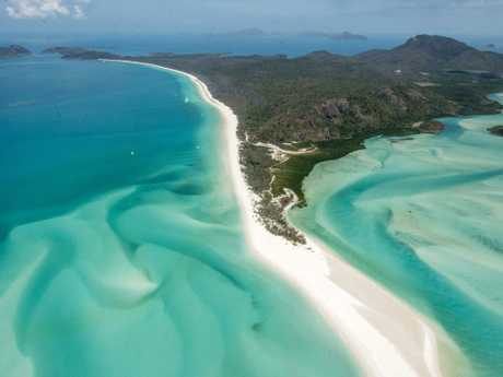 Whitehaven Beach on Whitsunday Island. Picture: Daryl Wright