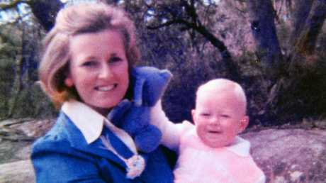 Lynette Dawson with one of her young daughters before she went missing in 1982, her body never located.