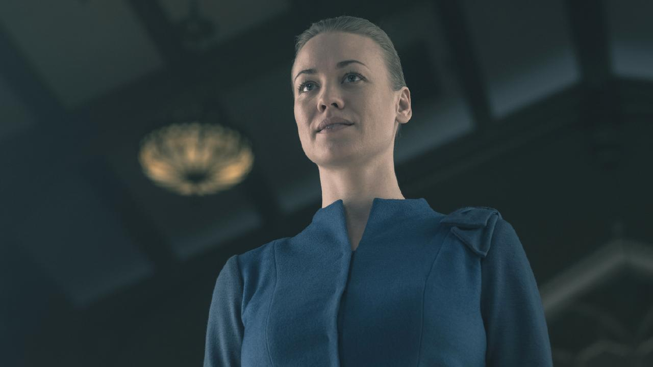 Yvonne Strahovski was nominated for a Globe for her knockout performance in The Handmaid's Tale. Picture: George Kraychyk/Hulu