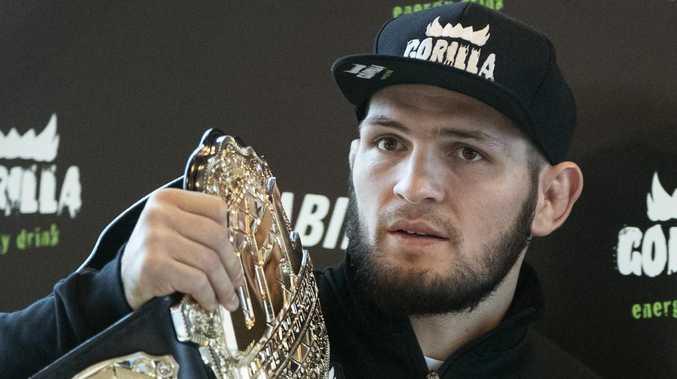 UFC lightweight champion Khabib Nurmagomedov. (AP Photo/Pavel Golovkin)