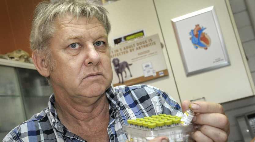 Eatons Hill vet Allen O'Grady is suing for defamation.