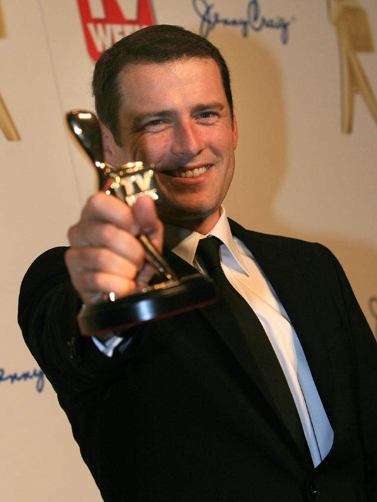 Karl Stefanovic with his Gold Logie in 2011.