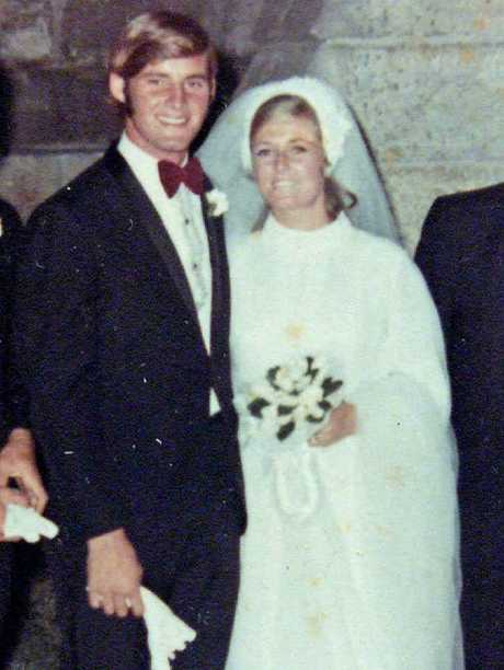 Chris Dawson with his wife Lynnette (Lynette) Joy Dawson on their wedding day. Lynnette went missing in 1982 she was 34.