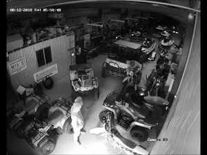 CCTV shows thieves stealing bikes from business