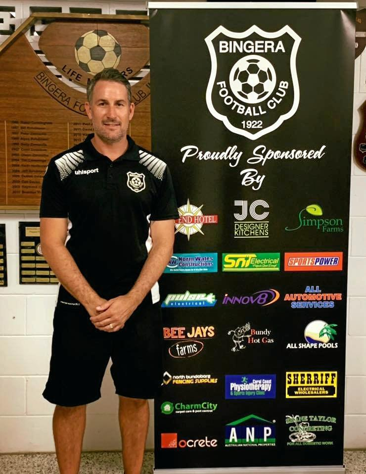 TOP JOB: Bingera's Andrew Donnison is the new coach of its Wide Bay Premier League side for next year as the club looks to win back-to-back titles in the competition.