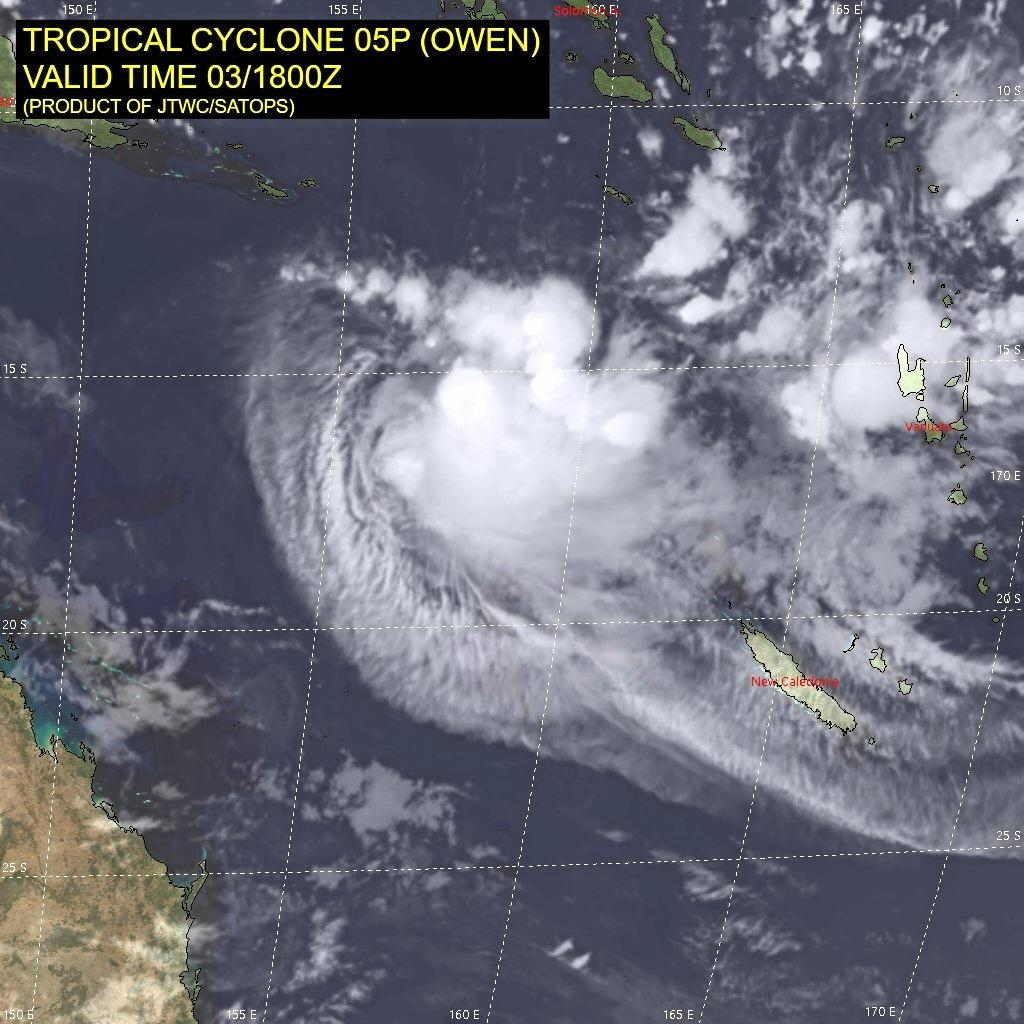 Ex-Tropical Cyclone Owen has created heavy rain, high winds and dangerous surf conditions through Cairns, Townsville, Mackay, the Capricornia Coast, Hervey Bay and Fraser Island.