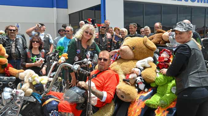 All of the bikers who helped with the 2018 Toy Run in Kingaroy
