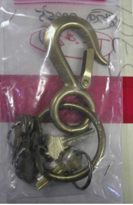 Bobbie's key ring, with a metal hook defensive weapon made for her by her husband, was found in the parking lot at the summit.