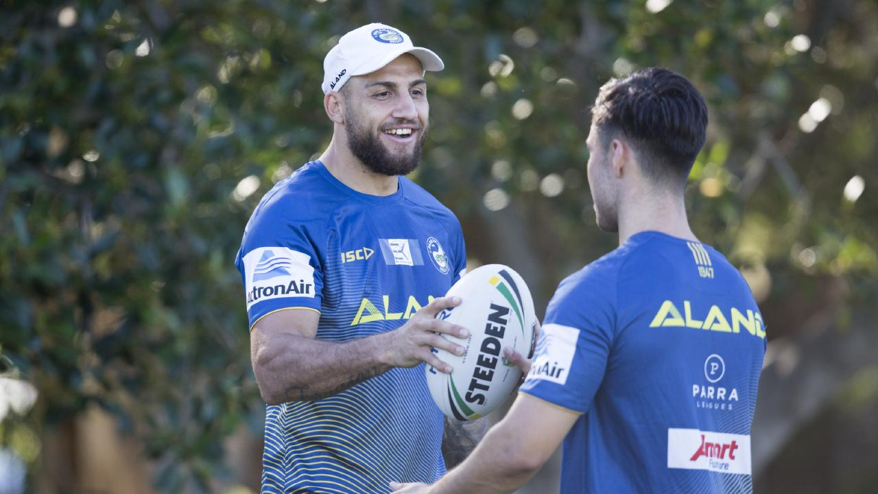 Blake Ferguson in training with new teammates.