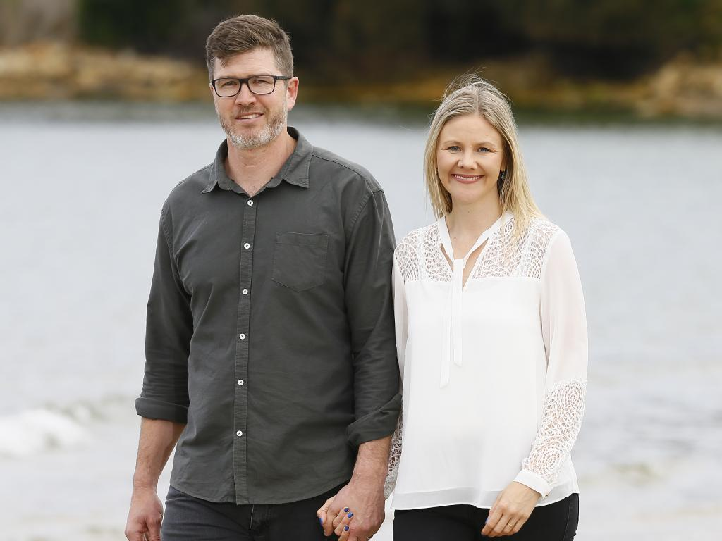 """Bernadette Black and husband Steven Black. """"I remember meeting my husband when Damien was three and even then people told him not to come near me. Thank goodness he did!""""Picture: MATT THOMPSON"""
