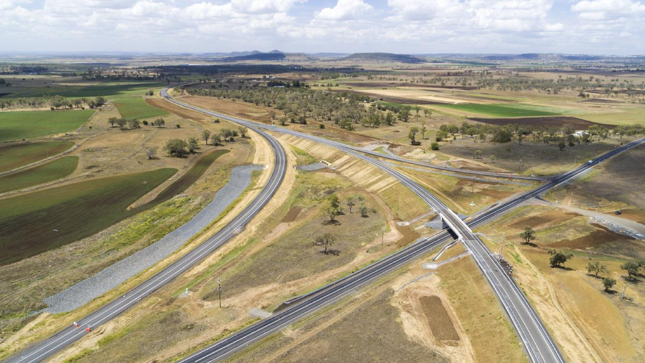 Toowoomba Second Range Crossing Gore Highway interchange at Athol