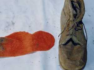 Creepy discovery over orange sock