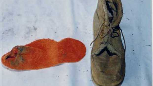 The orange sock and boot found on Annette. How did it get there?