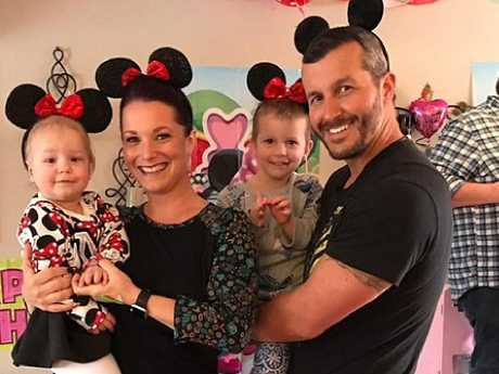 Chris Watts posing with his family, who he would go on to brutally slay to make way for a life with his mistress.