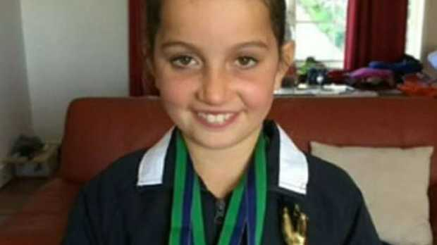 Kate Waterworth, 11, fell from the family's van and is fighting for her life. Picture: Supplied