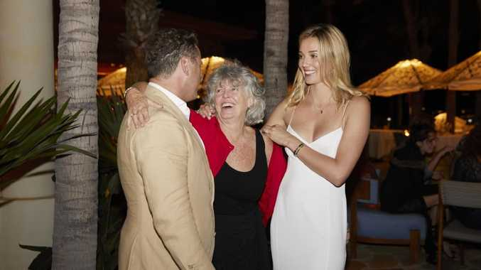 Karl and his fiance Jasmine share a happy moment with his mother. Picture: Supplied.