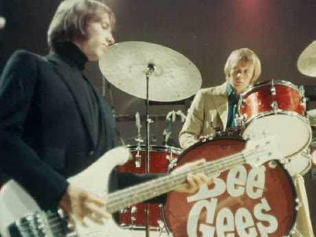 Colin Petersen drumming for the Bee Gees.