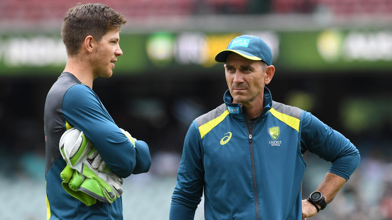 Australian coach Justin Langer says Australia would be seen as the 'worst blokes in the world' if their celebrations were over the top. Picture: AAP