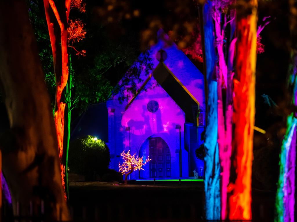 The church was forced to cancel its inaugural Light of Christmas festival after the lights were stolen. Picture: Giovanni Portelli Photography
