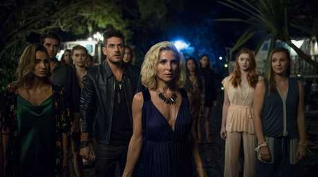 Elsa Pataky, centre, in a scene from the TV series Tidelands.