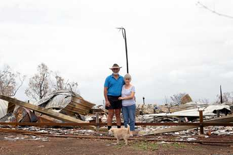 Wig and Fiona Dailey lost everything when their Kabra farmhouse of 20 years was destroyed during bushfires on November 28.