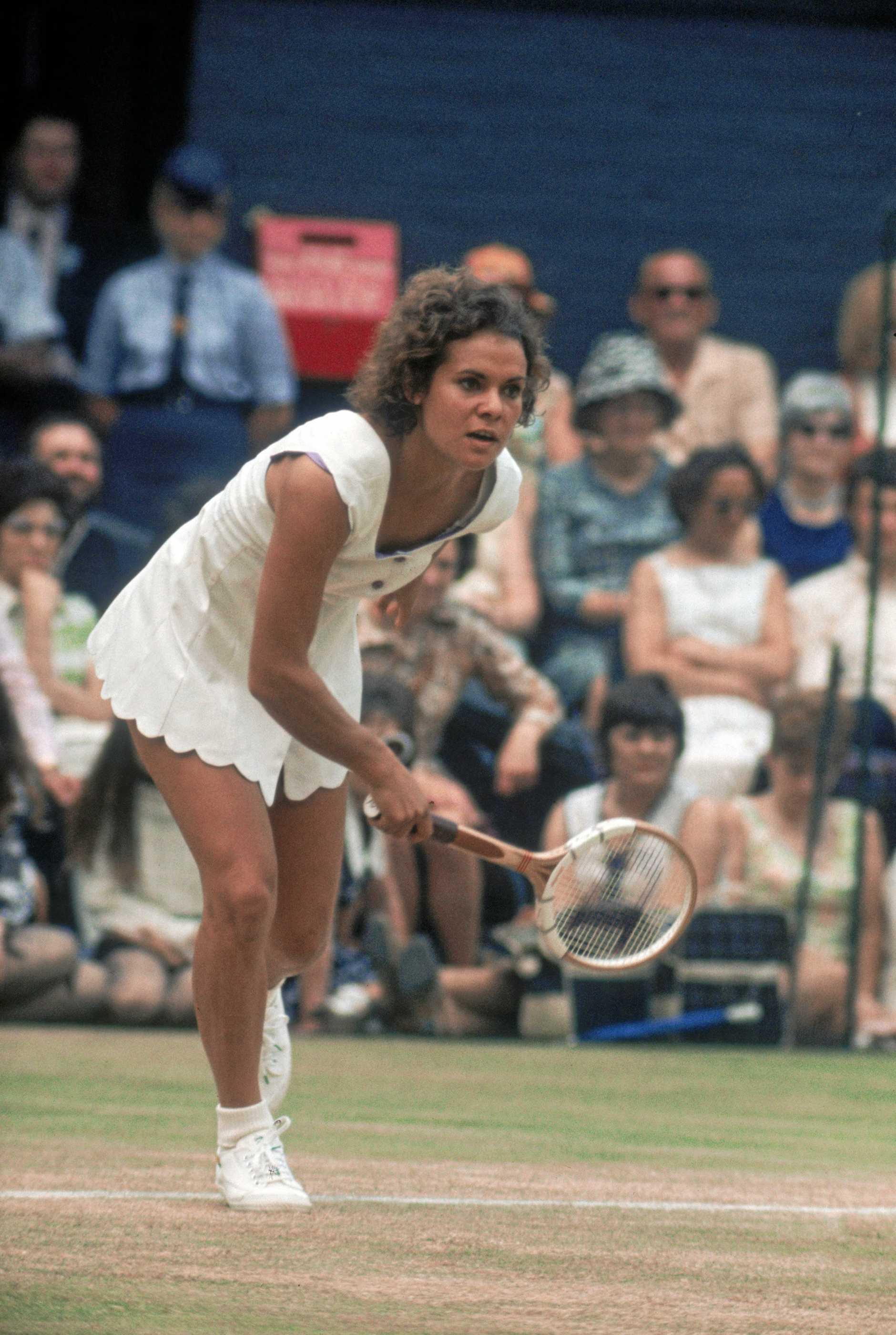 ON COURT:  Evonne Goolagong Cawley in 1980.