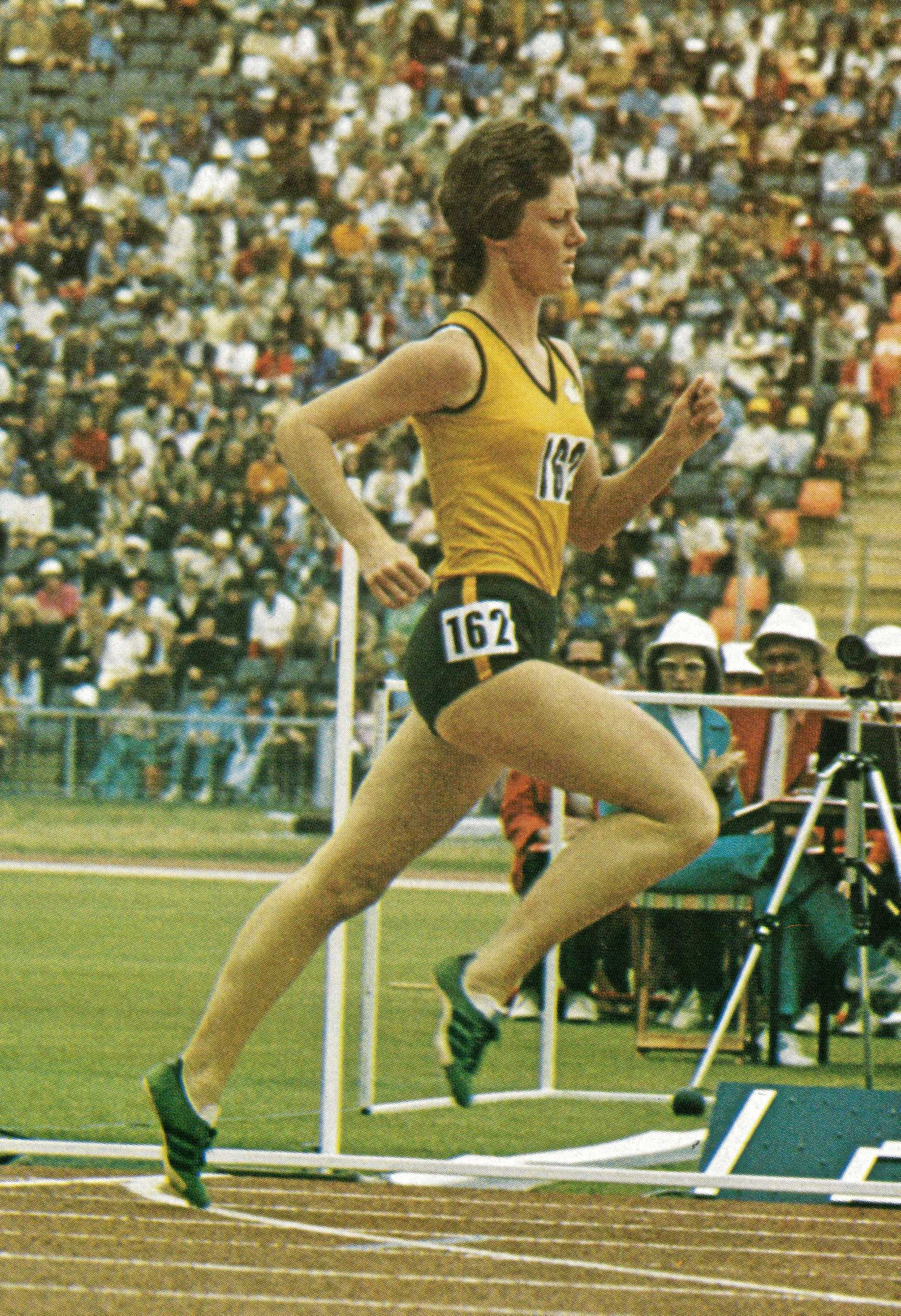 ON TRACK: Denise Boyd in action.