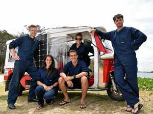 Solar-powered adventurers make a Coast pit stop