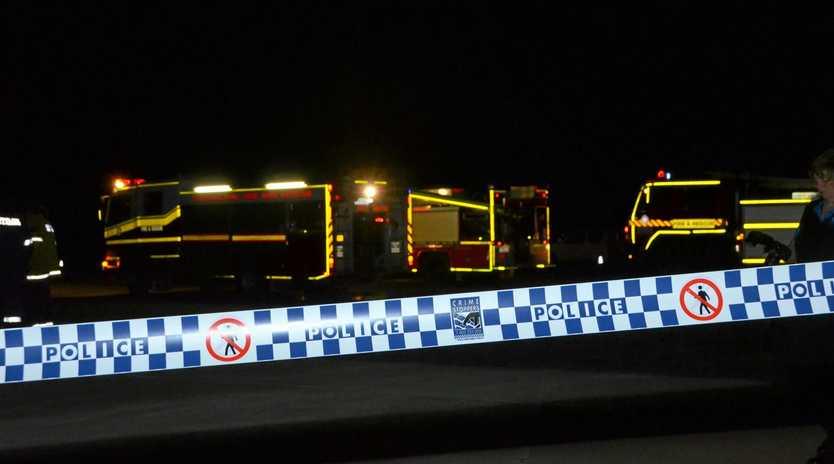 Police and paramedics attended a fatal car crash at Marian early this morning