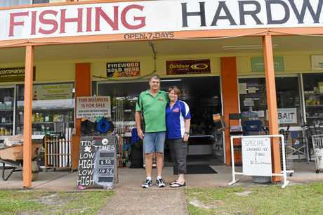 Rainbow Beach Hardware, Fishing and Camping owners Bruce and Terri Geissmann are ready for retirement.