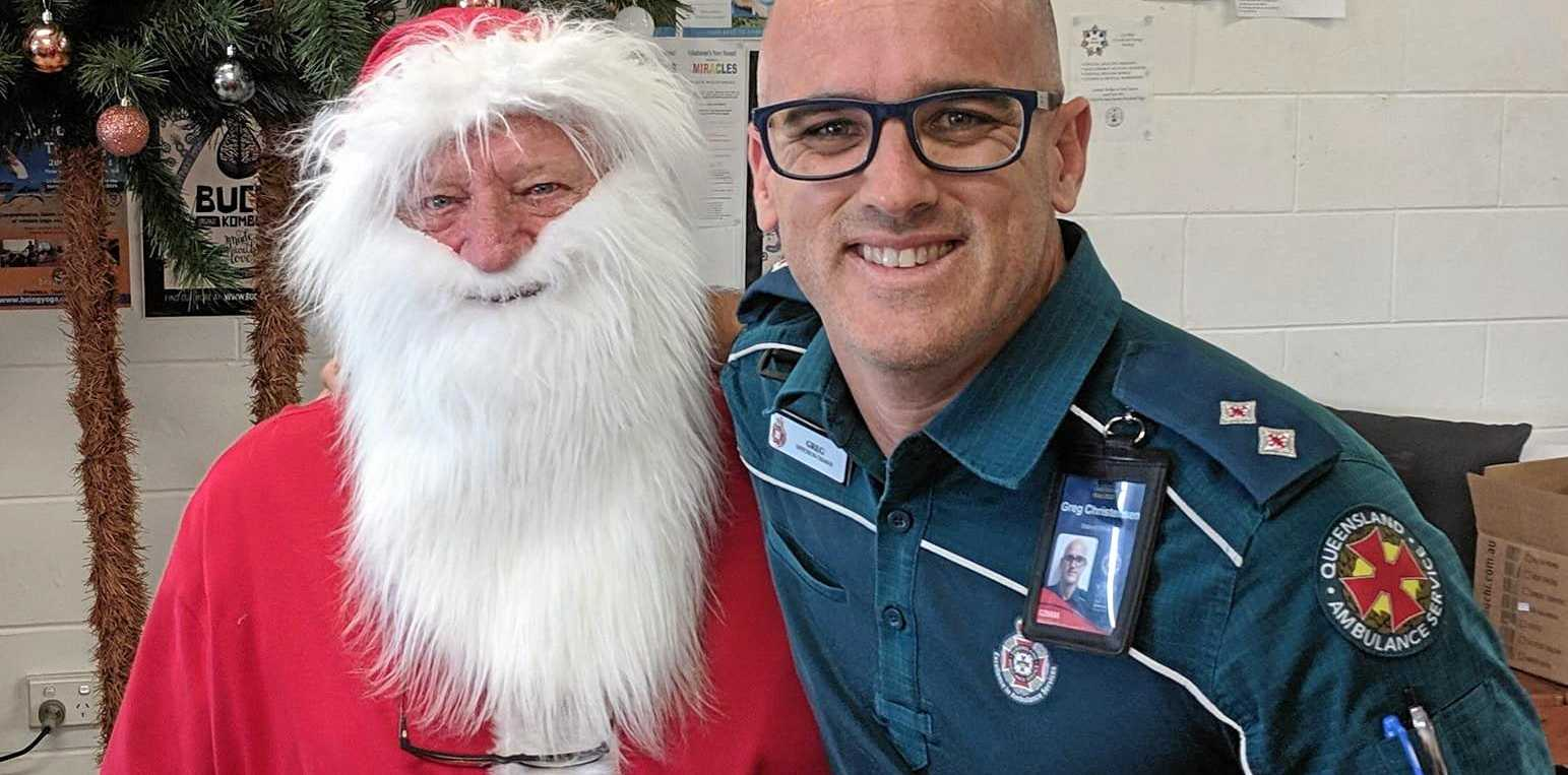 MERRY CHRISTMAS: Queensland Ambulance Service Office in Charger Greg Christensen has some tips for residents to stay safe this festive season.