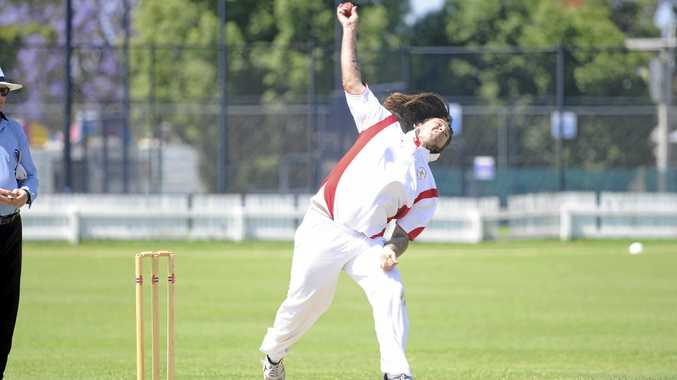 A DAY FOR BOWLERS: Josh Amos took two wickets for South Services in their destruction of Tucabia-Copmanhurst.