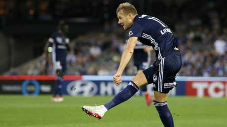Ola Toivonen is happy at Melbourne Victory.