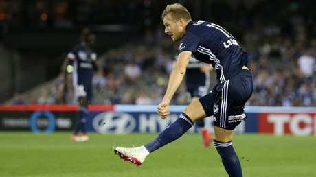 Ola Toivonen is happy at Melbourne Victory.