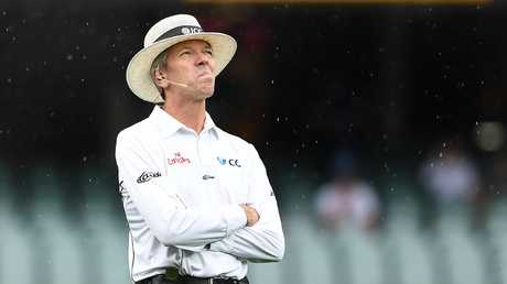 Umpire Nigel Llong has had a tough time, making several howlers. Picture: AAP