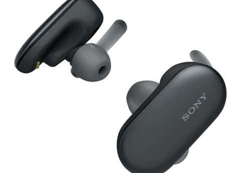 While other fitness headphones might be sweat and/or rinse-under-the-tap proof, Sony's WSP-900s go a step further. Picture: Supplied