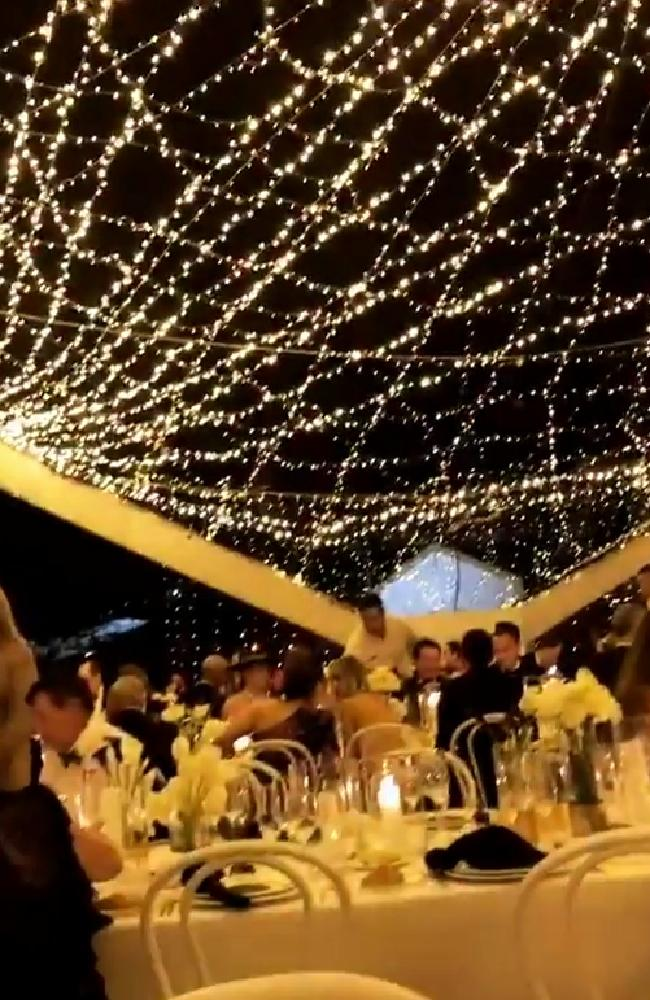 An image taken under the fairy lights canopy during the reception. Picture: Instagram