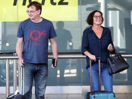 Karl Stefanovic's ex-wife Cassandra Thorburn, pictured on the day of the wedding, posted a cryptic message.  Picture: Diimex