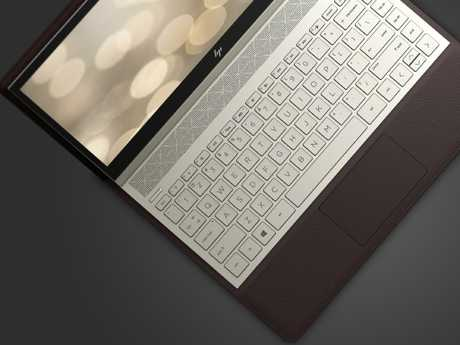 HP's Spectre Folio 13 inch convertible laptop is completely ensconced in a leather finish. Picture: Supplied