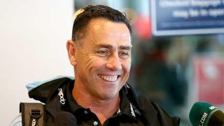 Cronulla Sharks coach Shane Flanagan. Picture by Damian Shaw