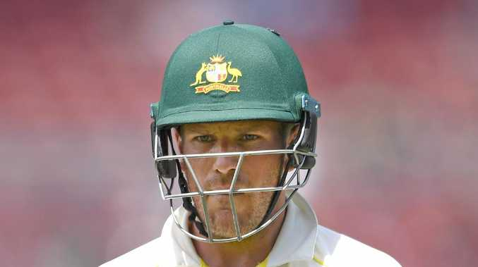 Aaron Finch failed at the top of the order in Adelaide. Picture: Getty