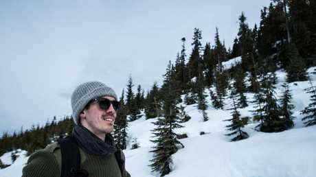 Adventurer Josh Wood at Denali National Park in Alaska