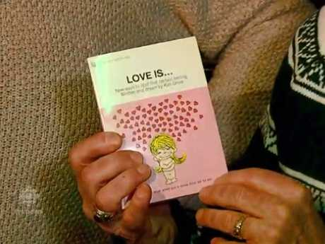 The gift turned out to be a book called Love Is: New Ways To Spot That Certain Feeling. Picture: CBC News