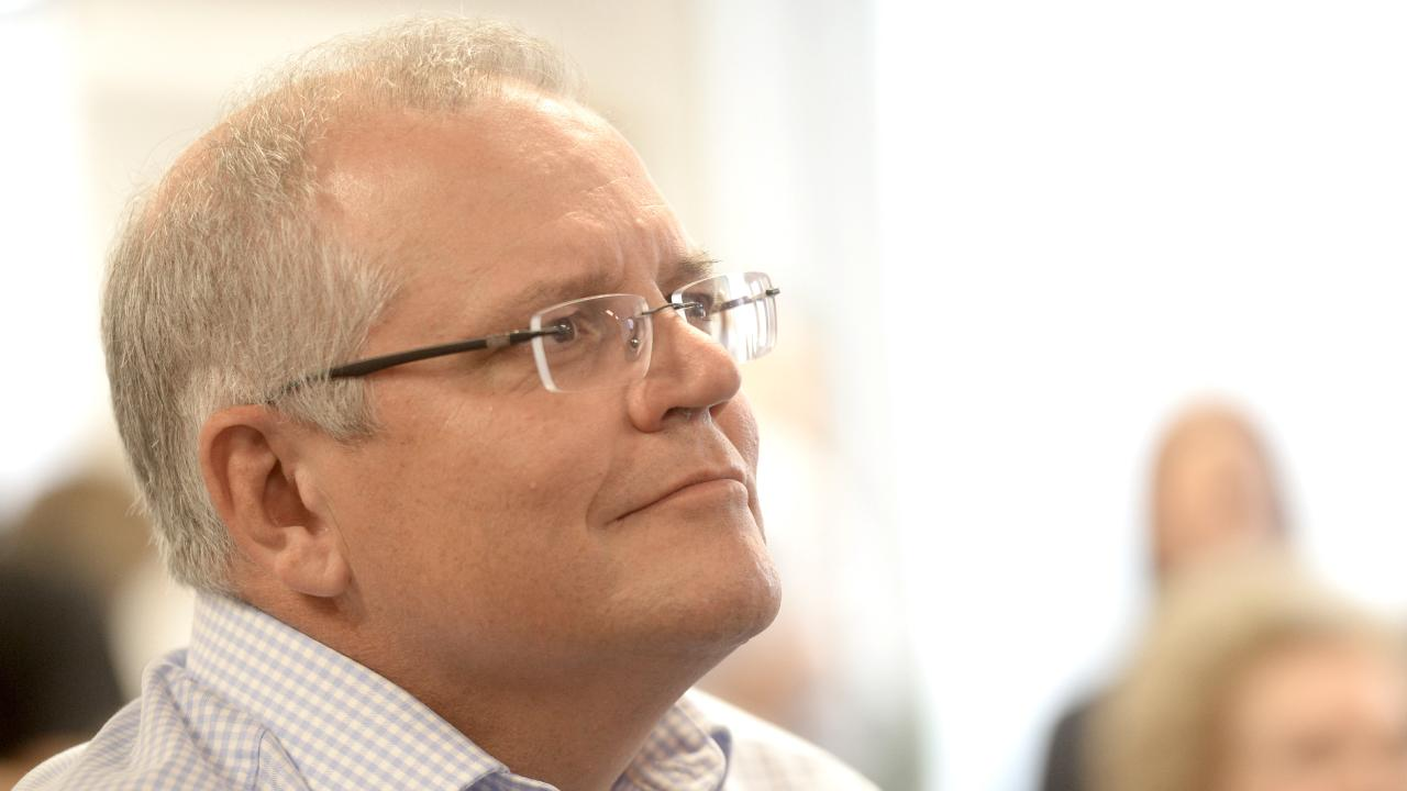 Prime Minister Scott Morrison at the Butterfly Foundation in Sydney. Picture: Jeremy Piper