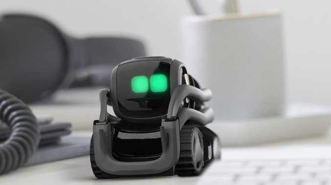The Anki Vector is a small robot that uses artificial intelligence to answer questions and recognise people in front of it. Picture: Supplied