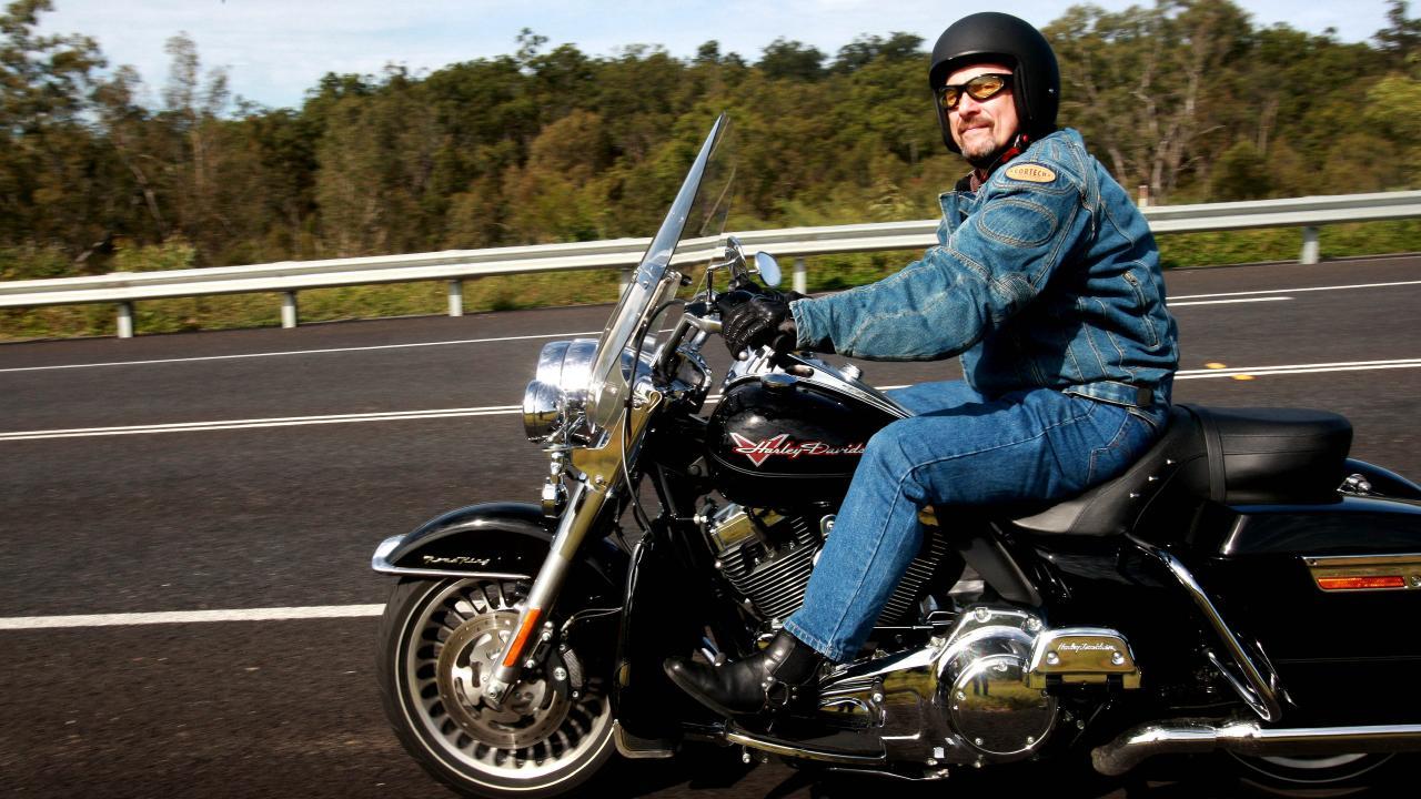 Tamawood's Lev Mizikovsky on his Harley Davidson