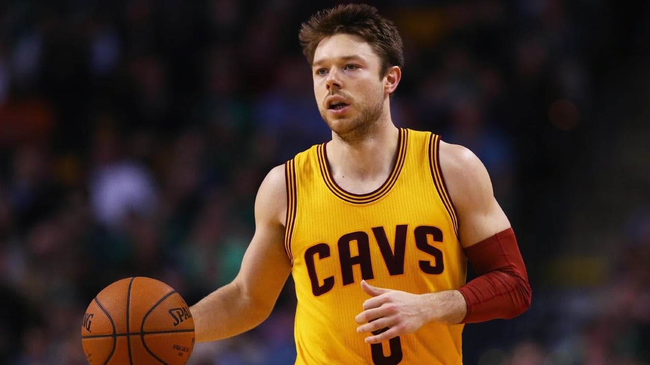 Matthew Dellavedova returns to Cleveland as a cult figure in the club's 2016 NBA title run. Picture: Getty Images