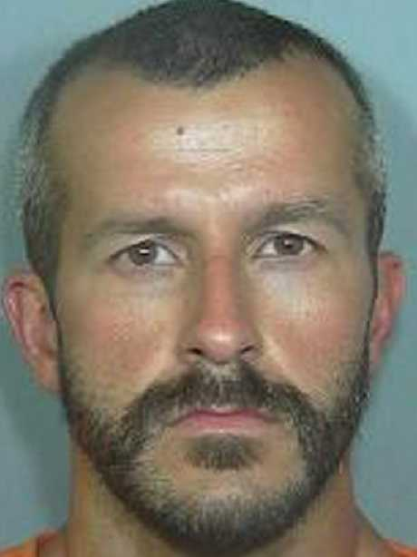 Chris Watts' booking photo. Picture: AP